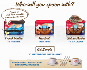 Spoons of Flavored Coffee Creamer   Maxwell House International